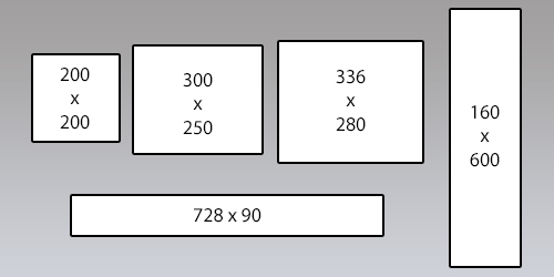 online banner ad dimensions