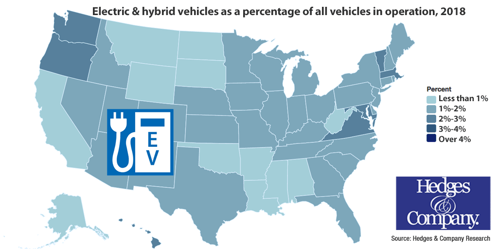 hybrid vehicles by state