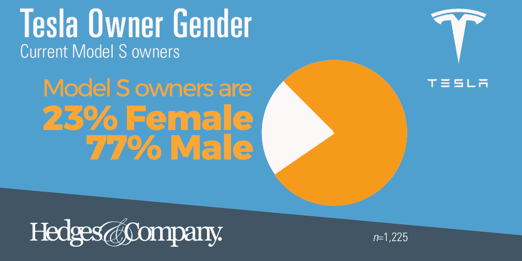 tesla owner demographics gender
